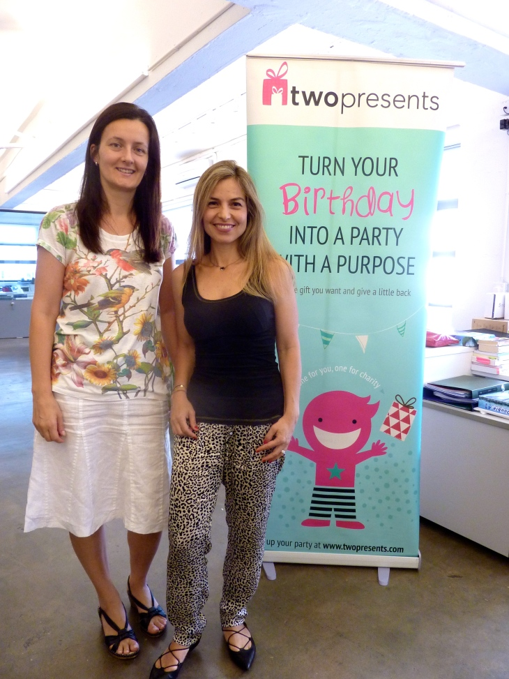 Twopresents Founders Karola Hovarth and Shirin Staerkle